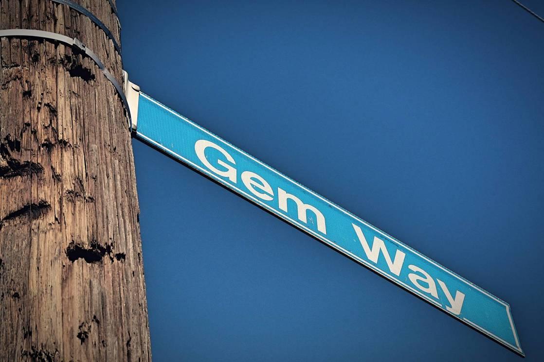 GEM WAY STREET SIGN